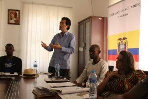 Amb. Aminu Majidadi and team in a seminar with the ambassador of Ecuador to Nigeria in Abuja3