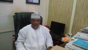 Amb. Aminu Majidadi at his Office