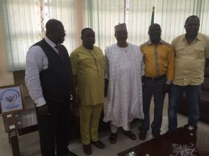 Amb. Aminu Majidadi, his team and the VC University of Abuja