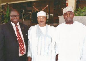 Amb. Aminu Majidadi with Senator Kelani and Galadima Gani