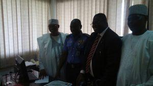 Amb. Aminu Majidadi with the IG of Police, Senator Kelani and Galadima Gani