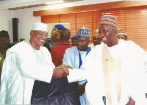 Handshake with the Deputy Governor of Niger State