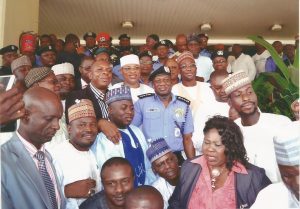 In a Group Photograph with the IG of Police and Notable Individuals